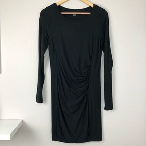 Tart Ruched Black Dress